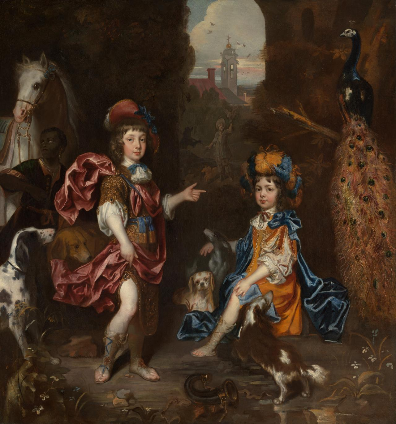 Edward Henry Lee, 1st Earl of Lichfield, and his wife Charlotte Fitzroy as children