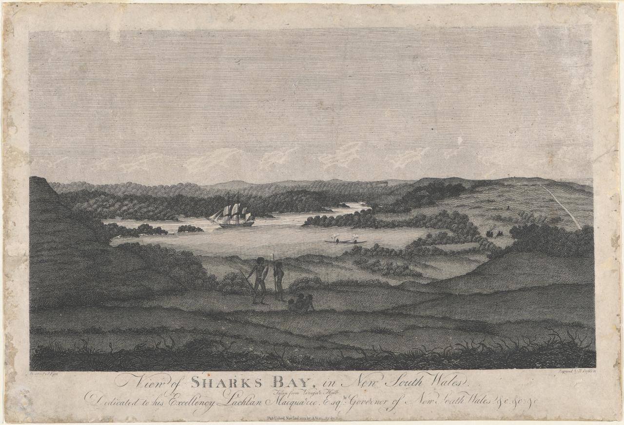 View of Shark's Bay in New South Wales. Taken from Vinegar Hill