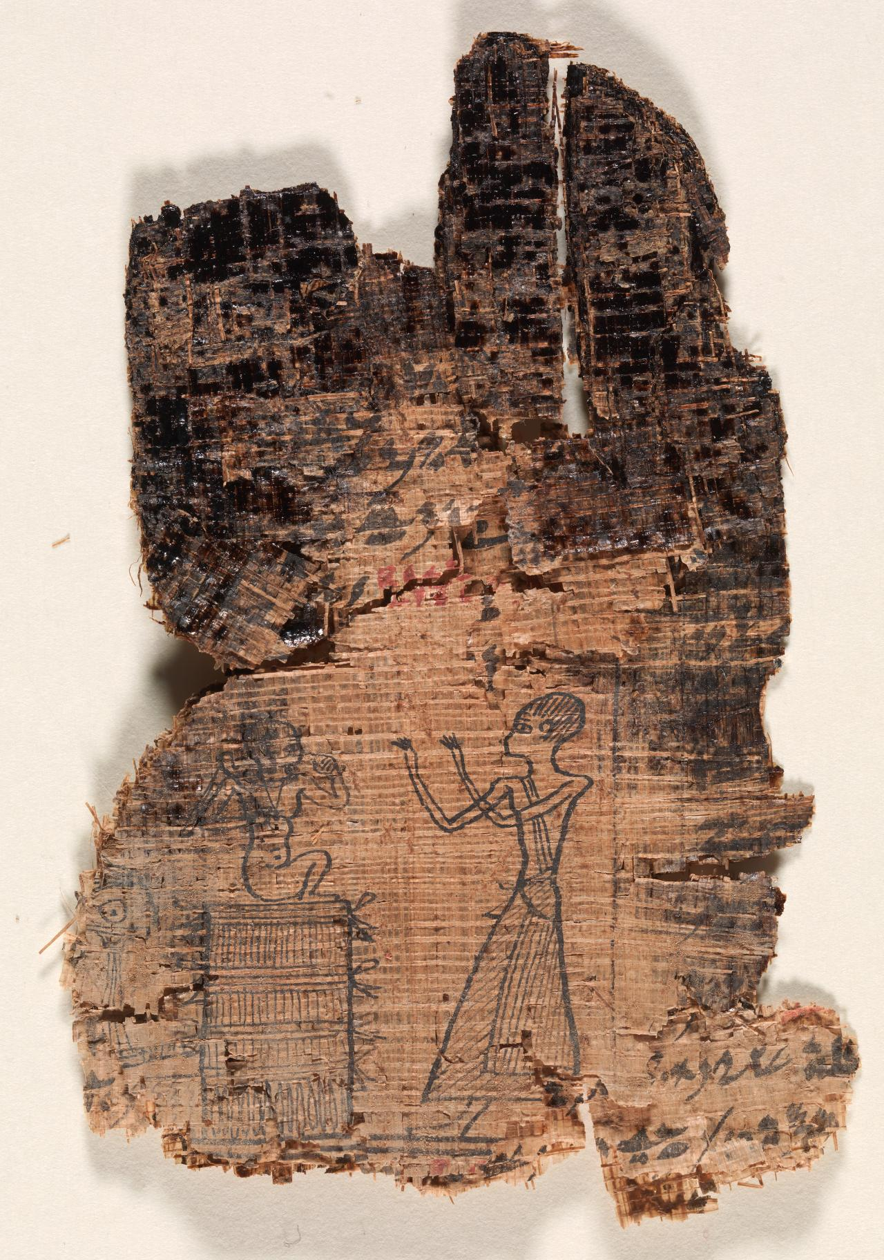 Fragments of inscribed papyrus