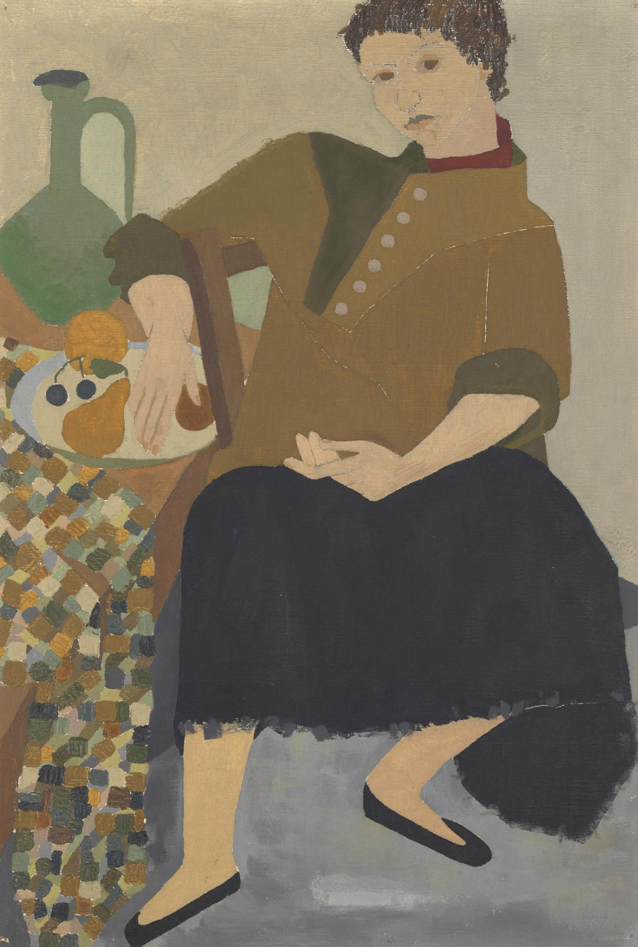 (Seated woman)