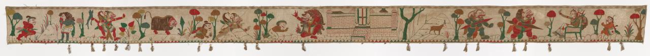 Ceremonial hanging for a temple or pavilion (Ider-ider) depicting Ramayana