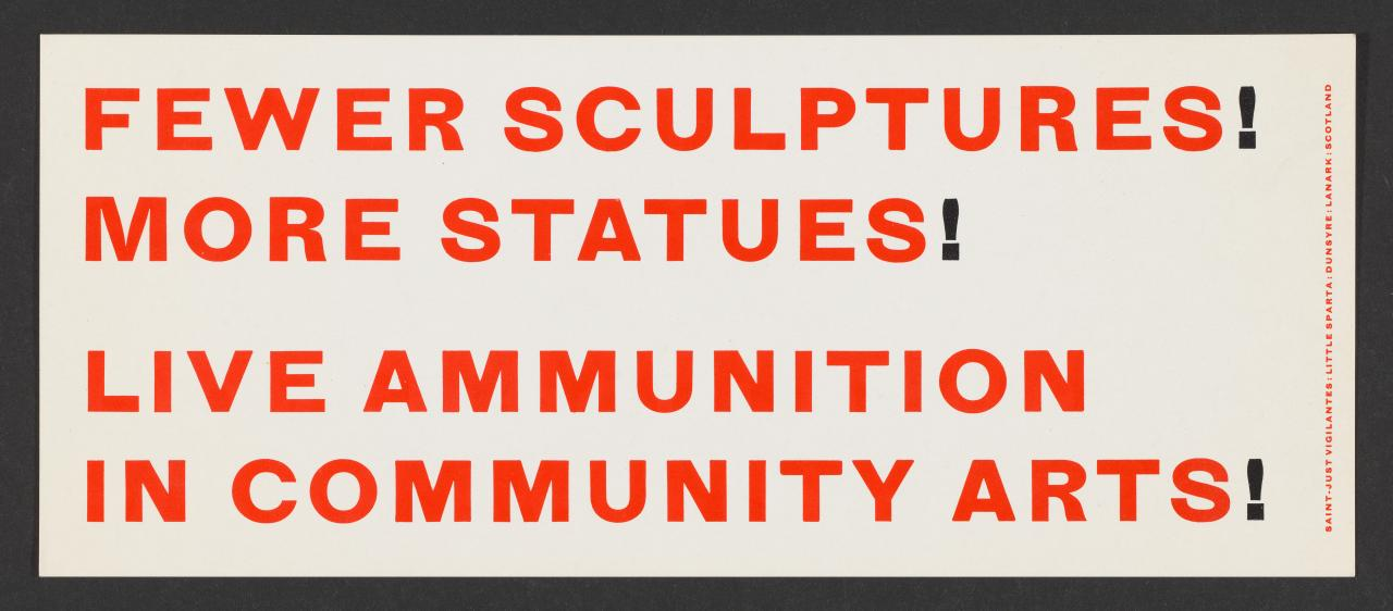 Fewer sculptures! More statues!