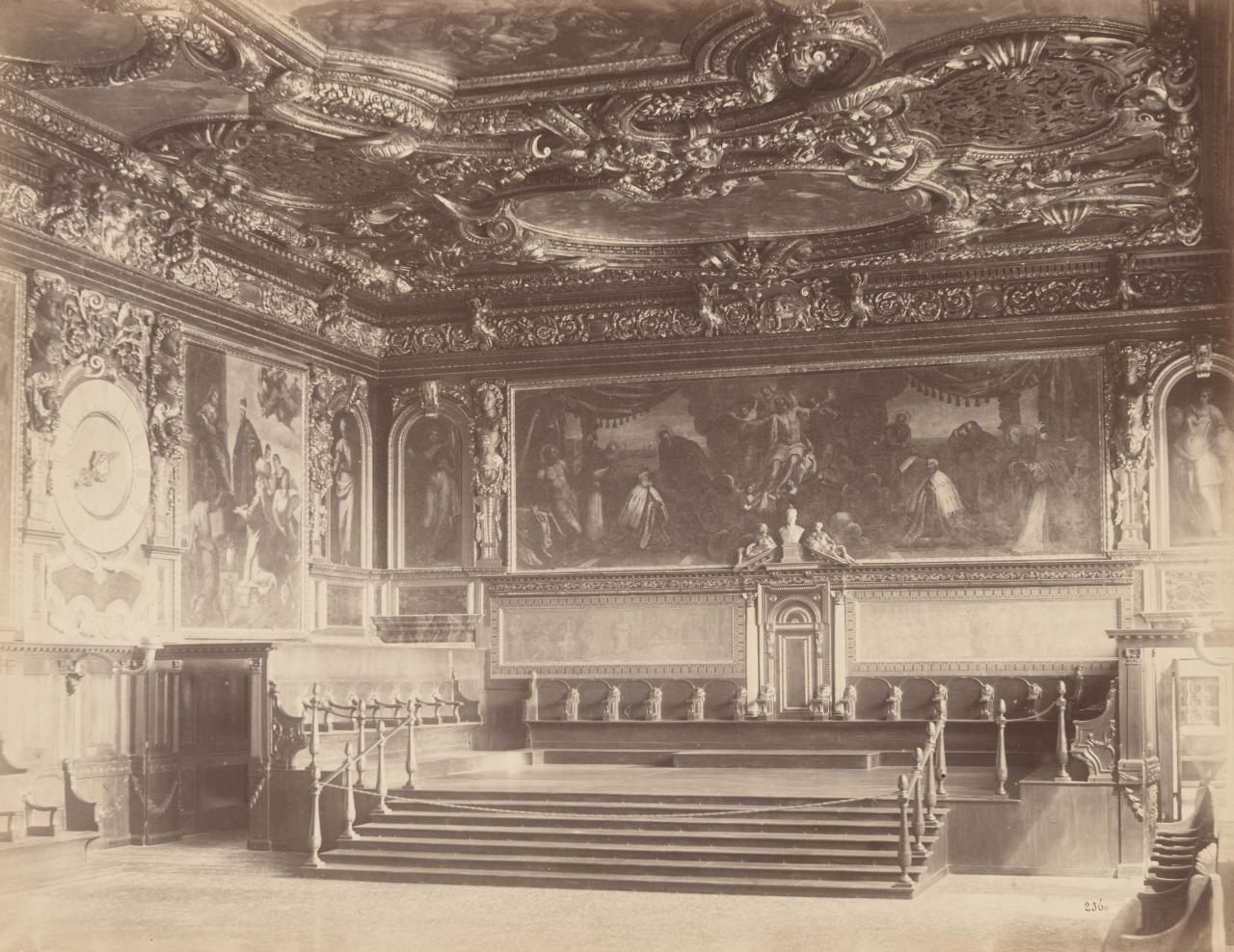 Interior of the Council Chamber, Ducal Palace, Venice