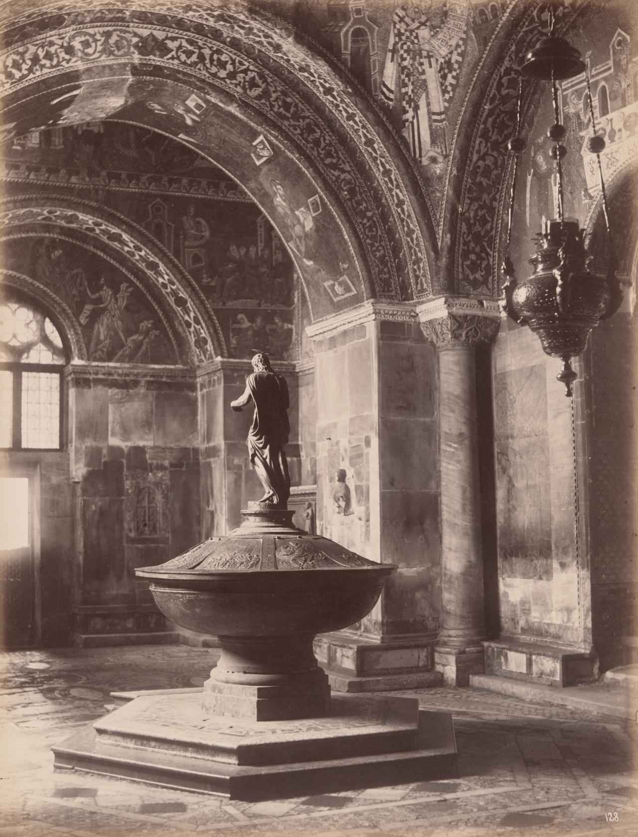 Baptistry and font, St Mark's