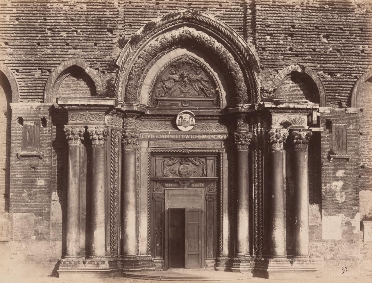 Door of unfinished Church of SS John and Paul, Venice