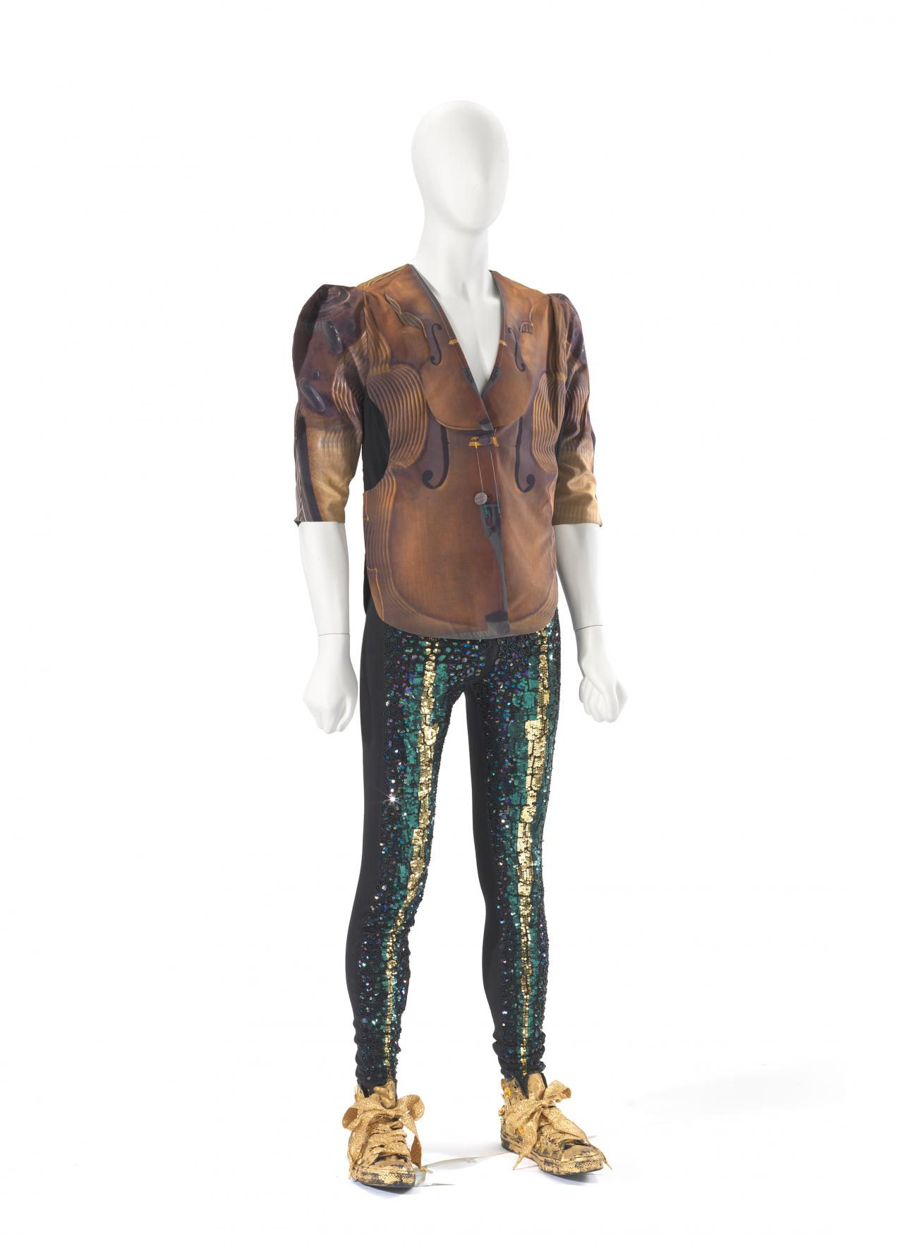 Violin jacket and Sequin scale leggings and runners