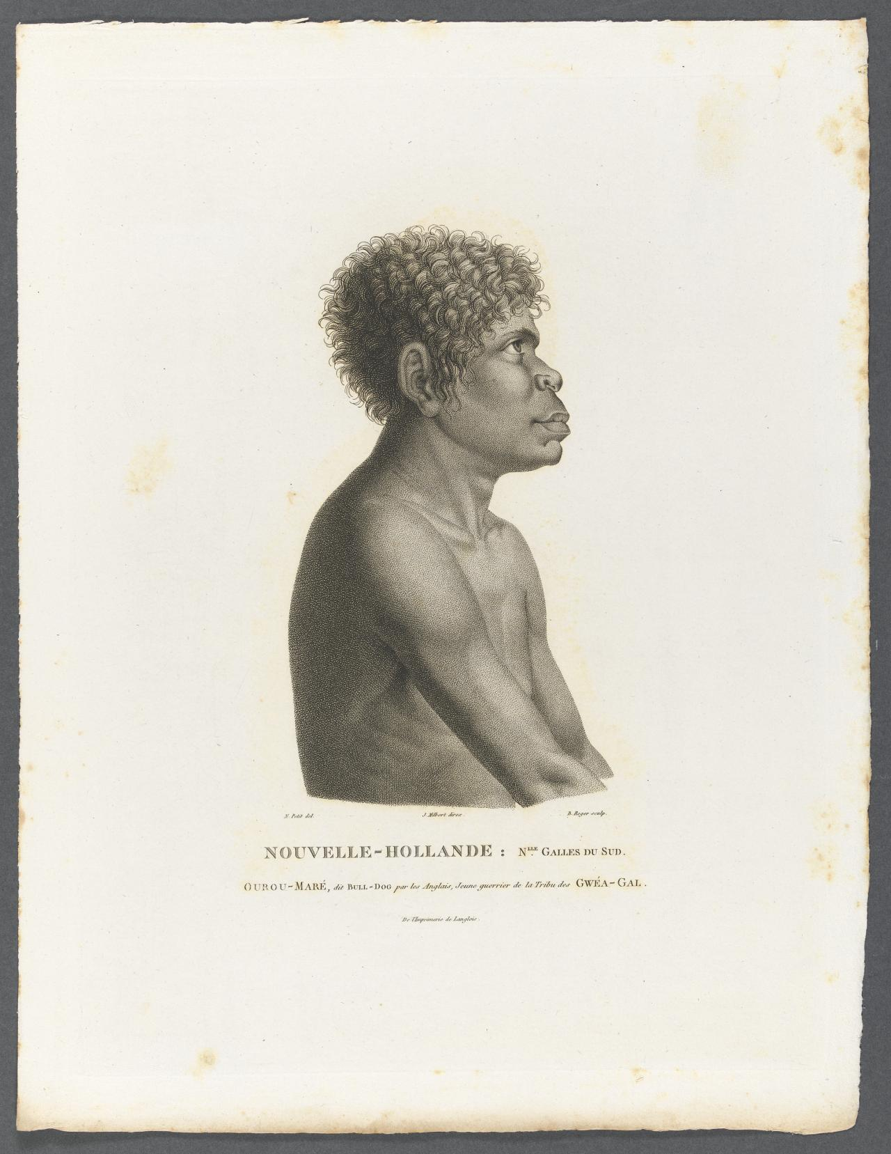 Ourou-Maré (called Bulldog), a young warrior of the Gweagal tribe, New South Wales