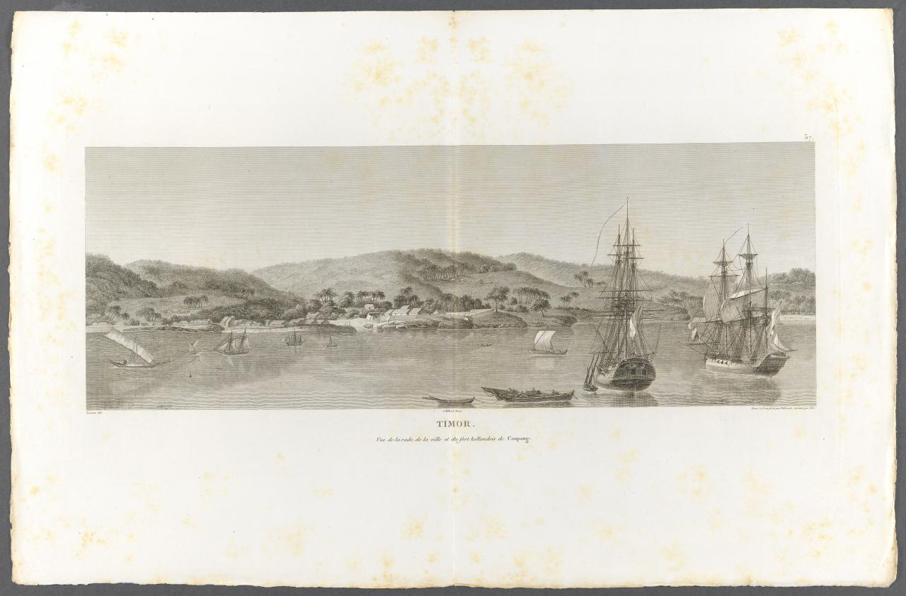 View of the town and the Dutch fort, Kupang, Timor