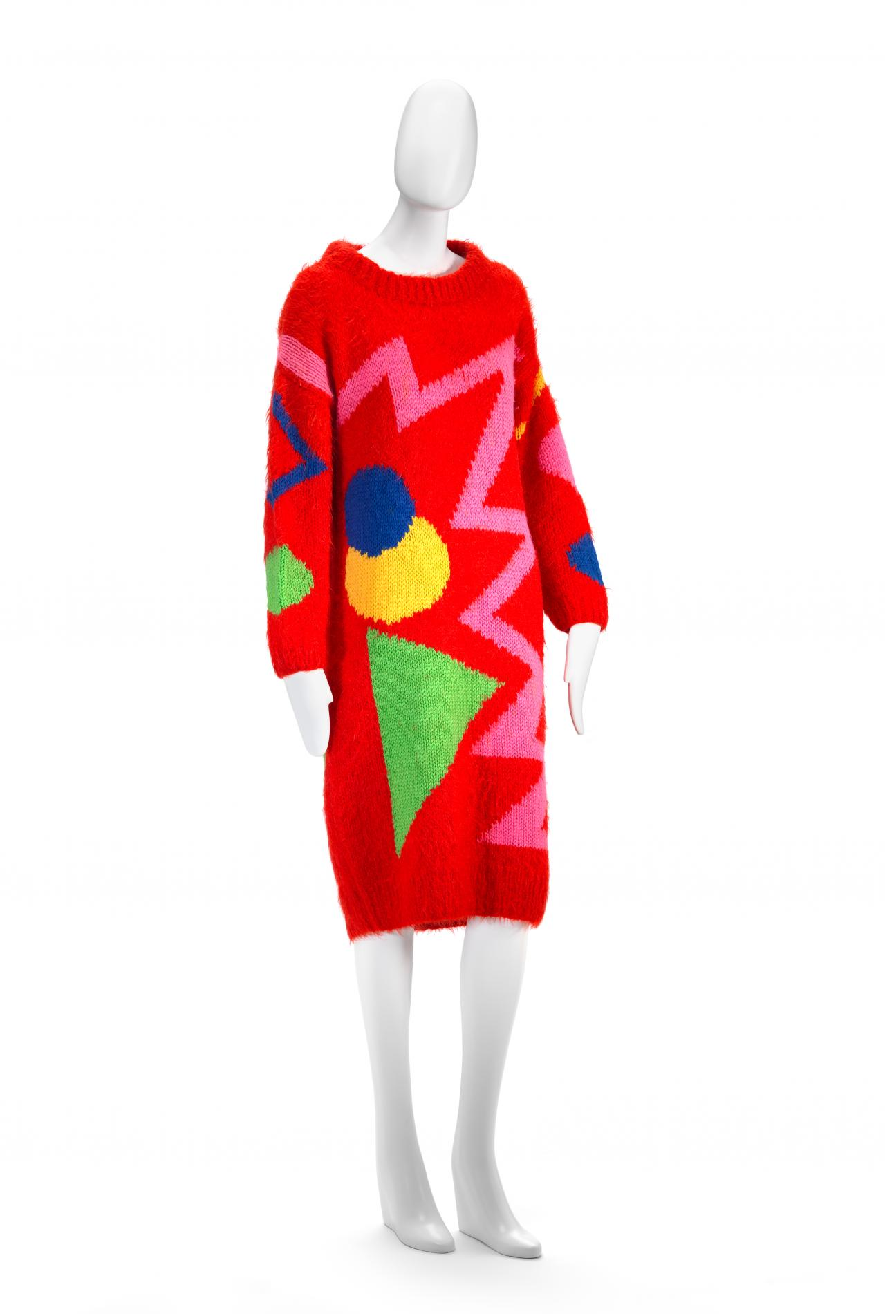 Dress Flamingo Park Sydney Fashion House Jenny Kee Designer Jan Ayres Knitter Ngv View Work