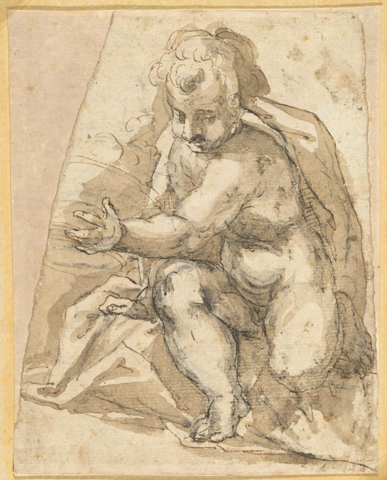 Seated putto