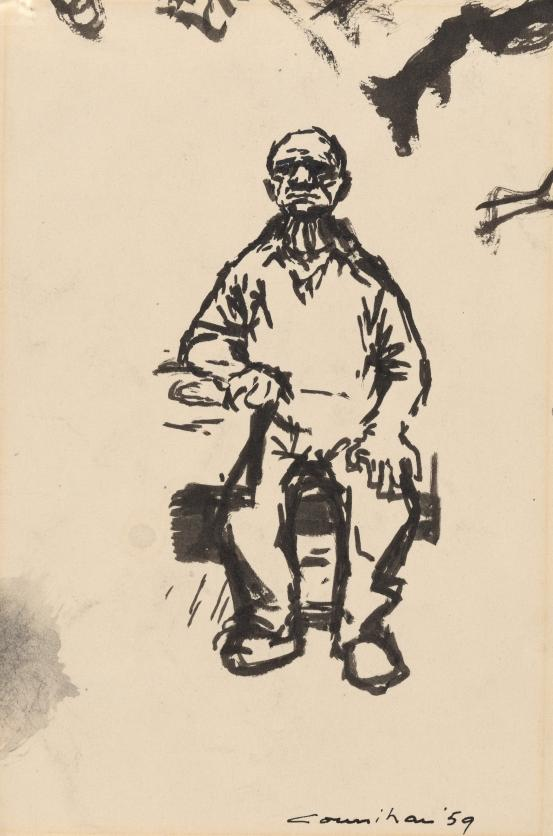 Preparatory drawing for An old man