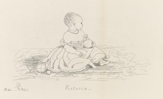 The Princess Royal, seated