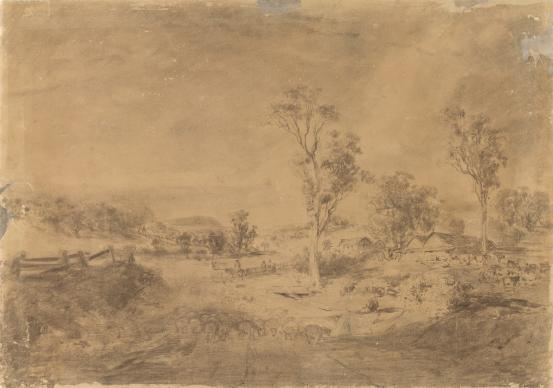 Study for Summer afternoon at Templestowe