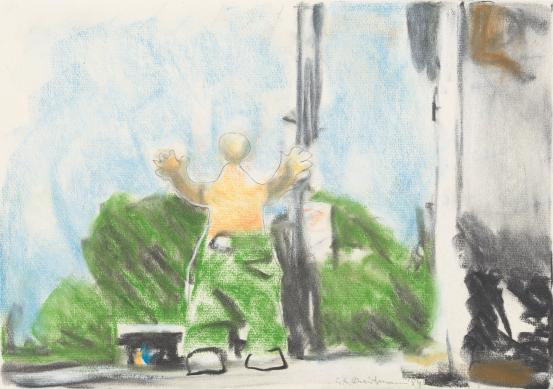 (Untitled) (Figure in streetscape)