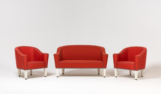 Sofa and two armchairs from the Villa Gallia range