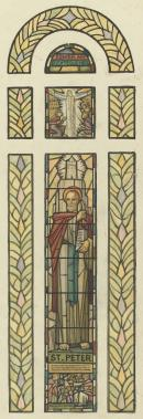 Design for window, St James Old Cathedral (St Peter)