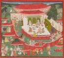 Maharana Sangram Singh II receiving Maharaja Sawai Jai Singh of Jaipur feasting in camp