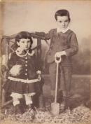 No title (Two children), cabinet print